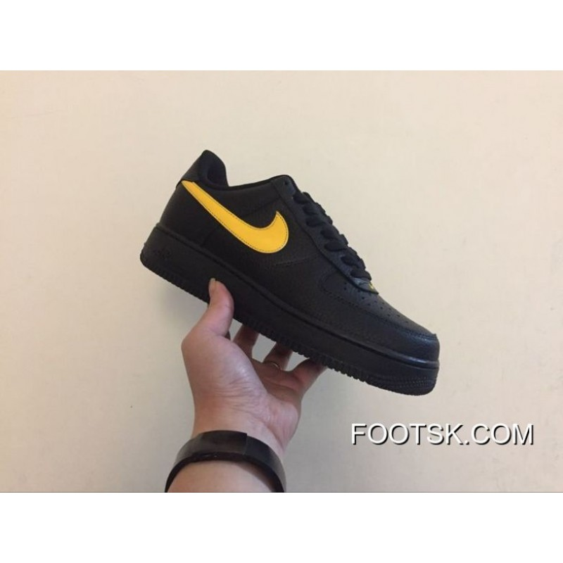 Authentic Version Of The Nike Air Force 1 07 Lv8 Bass Aa4083-002 Black And Yellow