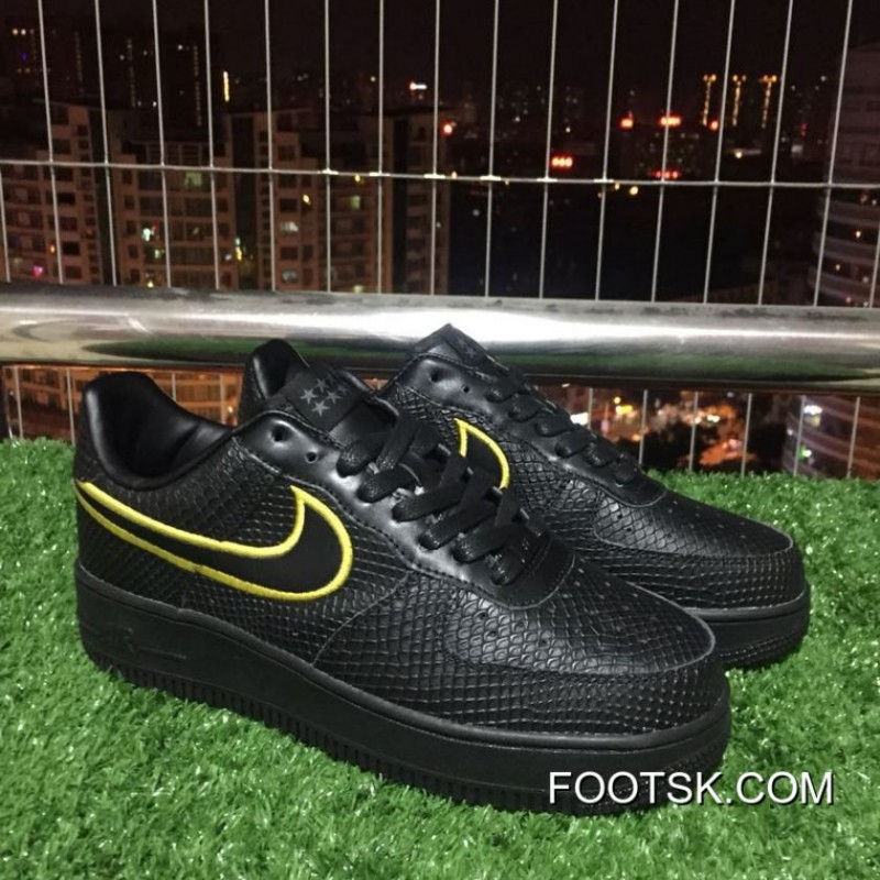 finest selection f8f3e a6326 Copuon Code Nike Air Force 1 Low Kobe Black Mamba Af1 Black Mamba Retired  Version Black