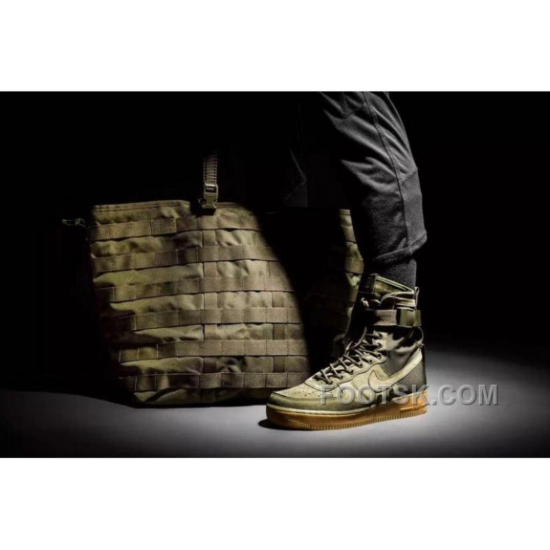 Nike Discount Military Buckles Air Green 1 High Double Force Ygfby76