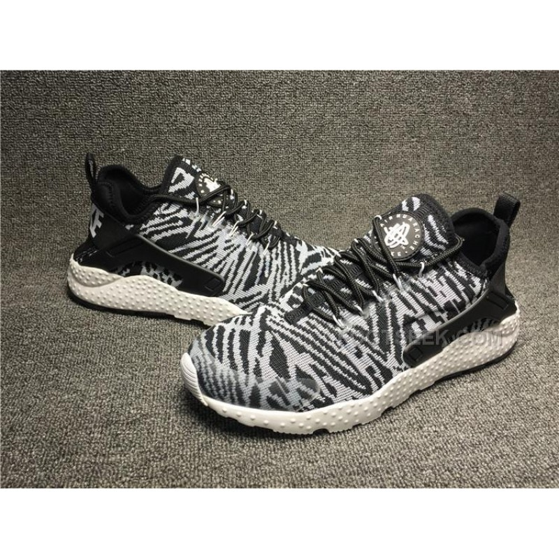 c6c207c6686 Nike Air Huarache Men And Women Ultra Kjcrd Zebra-stripe Black White 818061 -001