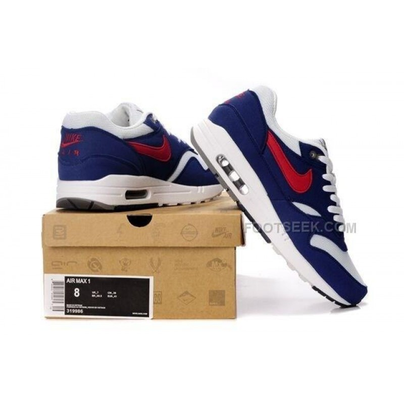 on sale a0bce f2b10 ... Nike Air Max 87 Men Shoes Blue White Red