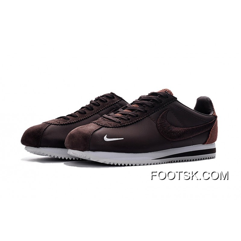 lowest price 37bcb 7328d Best Nike Cortez Nike Cortez Knit Embroidery Brown And White