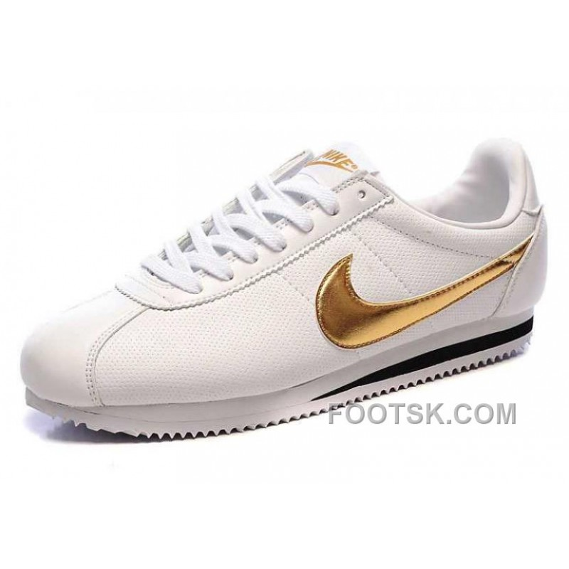 competitive price 80d1a 1101e Nike Cortez Leather Men Shoes White Gold Online