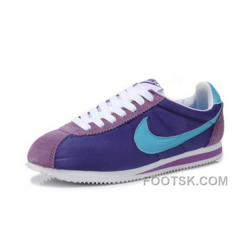 mens nike cortez purple blue