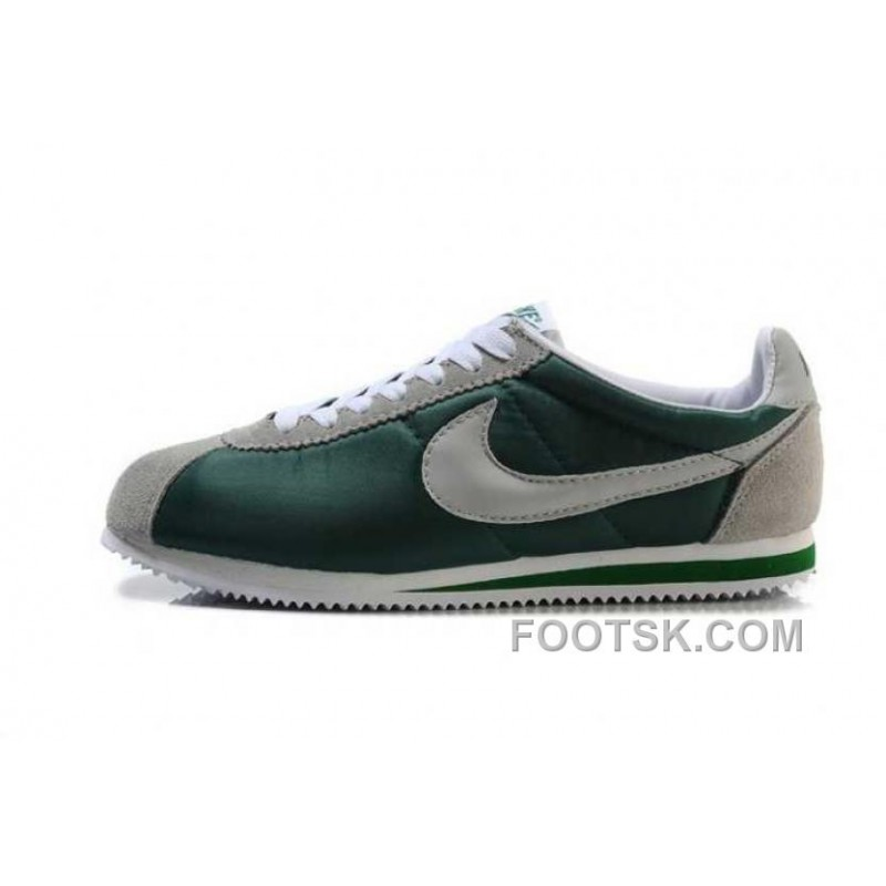 new arrival 402fd 3b4a1 Cheap To Buy Nike Classic Cortez Nylon Mens Green Gray