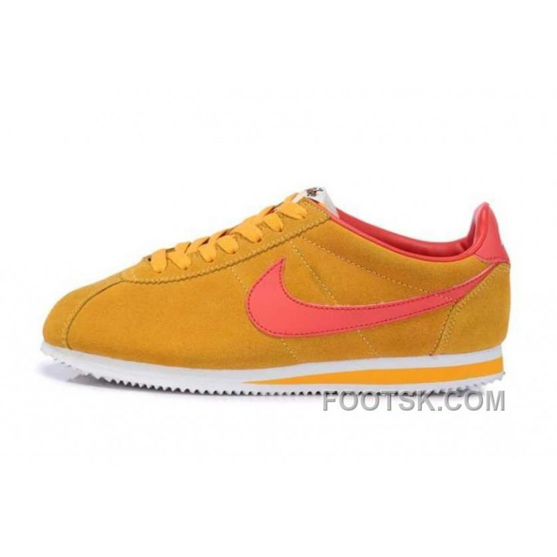 e1115f469de3 Christmas Deals Nike Classic Cortez Nylon Mens Gold Yellow Red ...