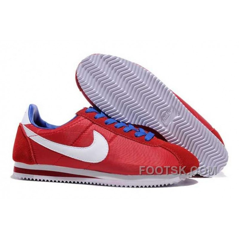 finest selection 2693f 2a902 Authentic Nike Classic Cortez Nylon Mens Red White Blue ...