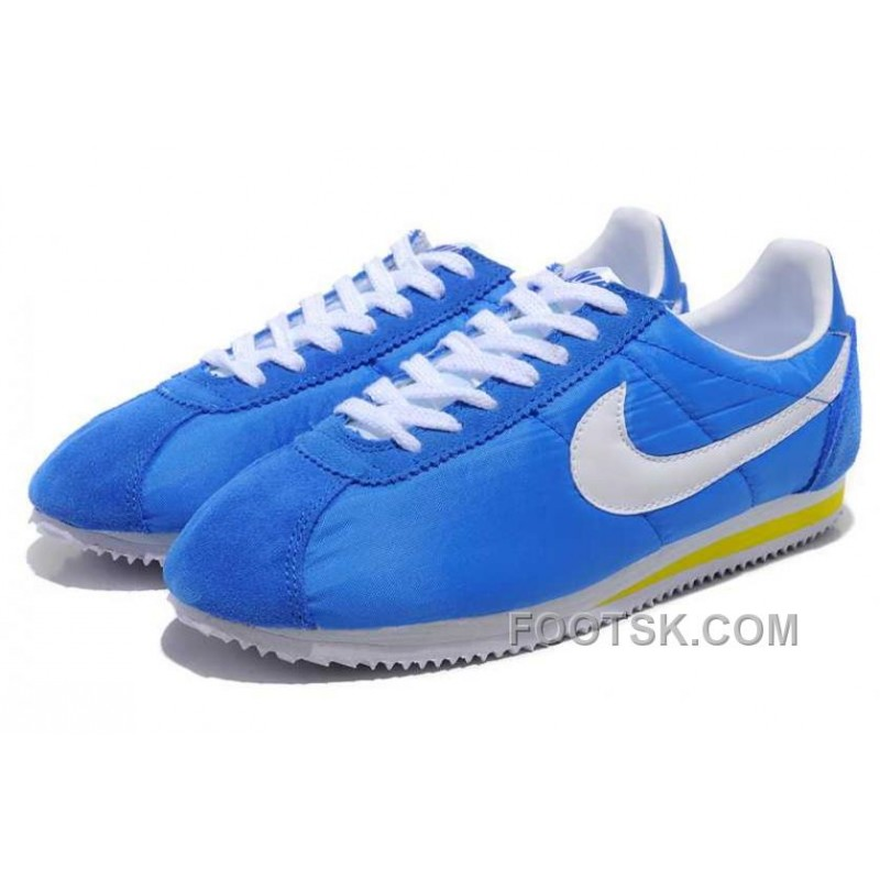 best sneakers fa84e 20085 Christmas Deals Nike Cortez Oxford Cloth Men Shoes Blue White