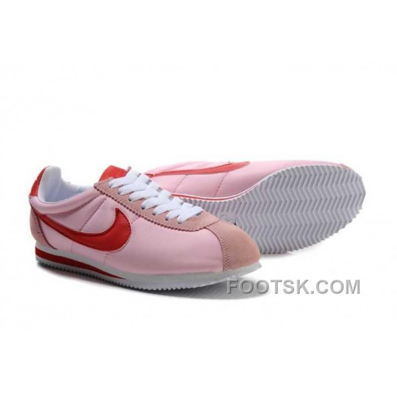 Nike Classic Cortez Nylon Womens Baby Pink Red Discount Price 74 00 Discount Authentic Shoes Footsk Com
