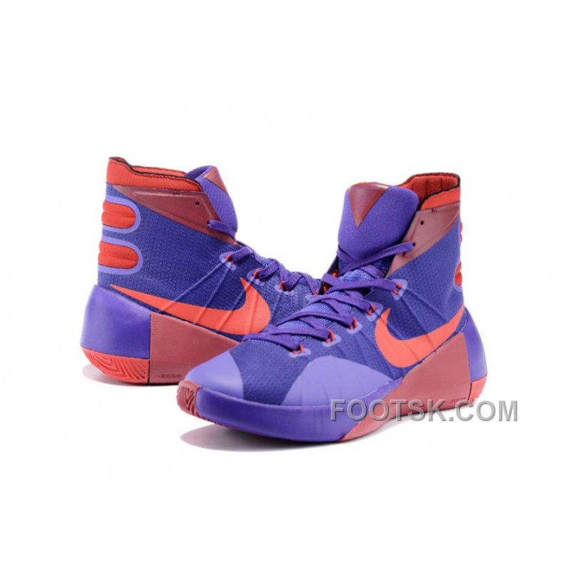 first rate 3aa76 36a99 Nike 2015 Hyperdunk Purple Red Authentic A7aW3e