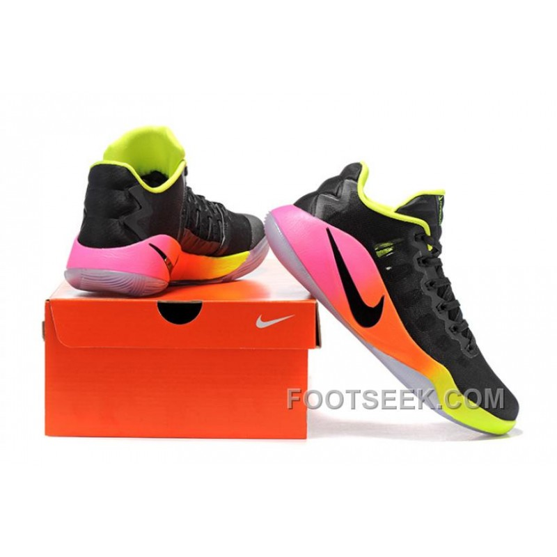 release date 4f5ad 5c5a6 Nike Hyperdunk 2016 Low Unlimited Black/Black-Pink Blast-Volt-Total Orange  For Spring