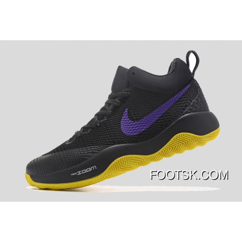 check out 27be7 5800b Nike HyperRev Black Purple Yellow Men s Basketball Shoes New Style DNr5W