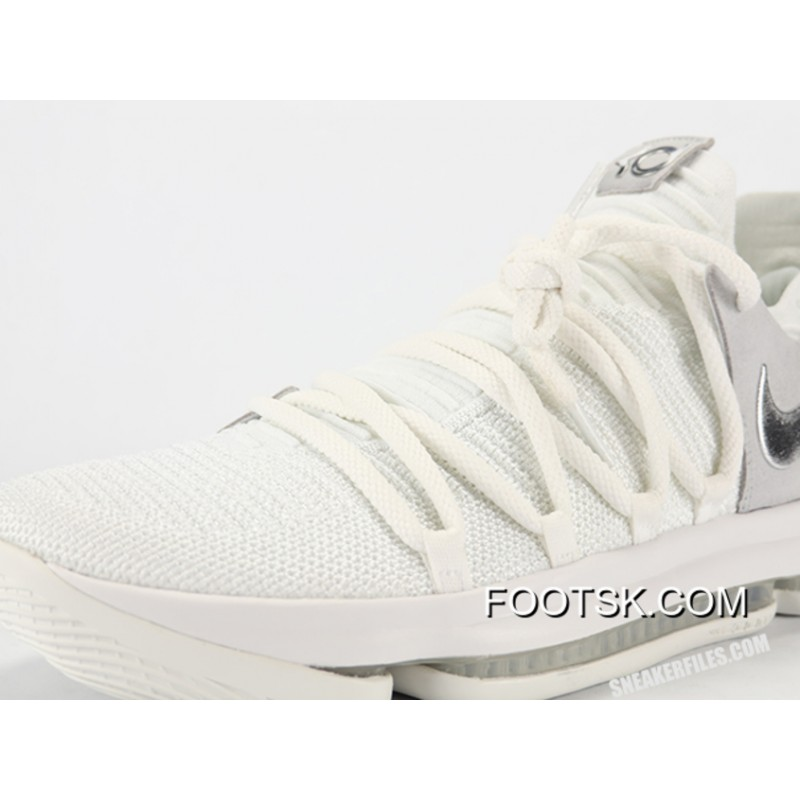 a63bb3b325f4 New Nike KD 10  Still KD  White Chrome Pure Authentic