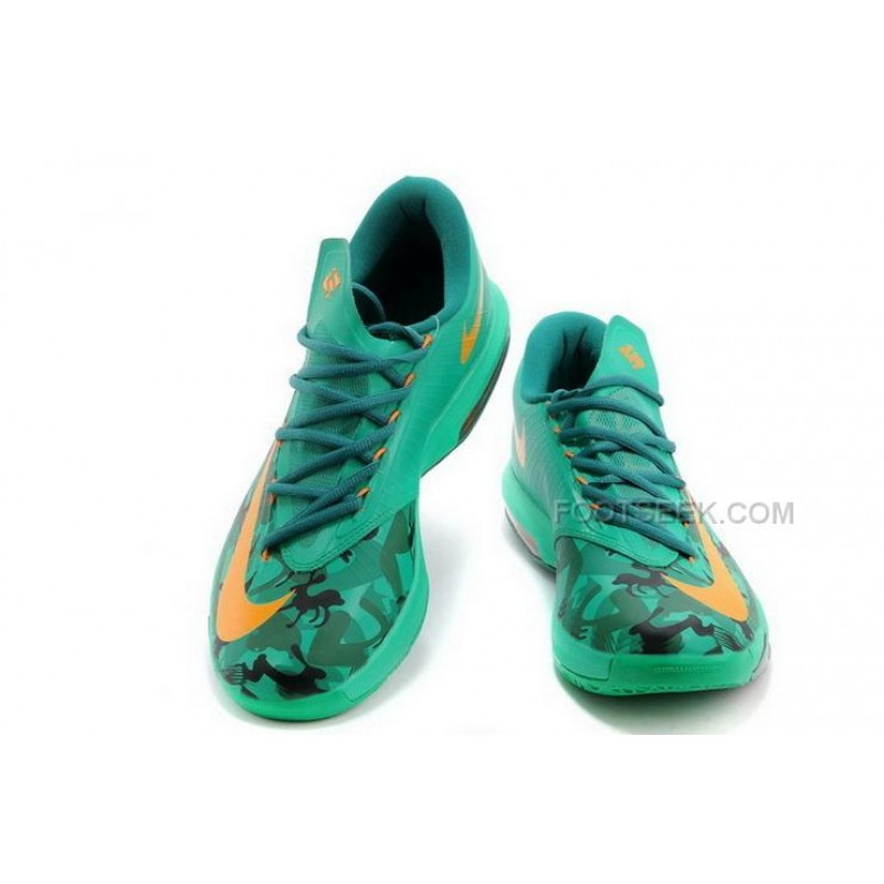 the latest 2188a 04ab5 ... Nike KD 6 Easter Jade Orange Mens Shoes Discount ...