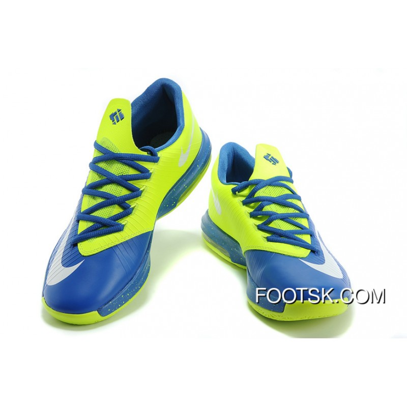 18706af072bf Nike Kevin Durant KD 6 VI Blue Neon Green New Style