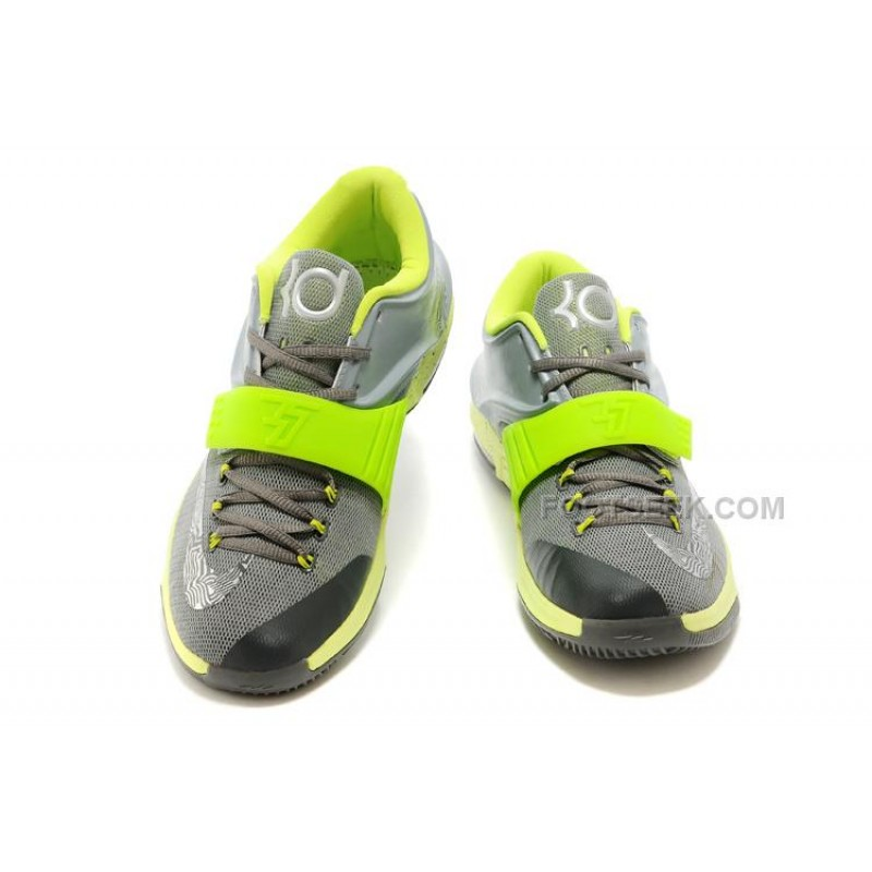 quality design 56bf6 08014 NIKE KD 7 Wolf Grey Metalic Silvere Volt Green Free Shipping