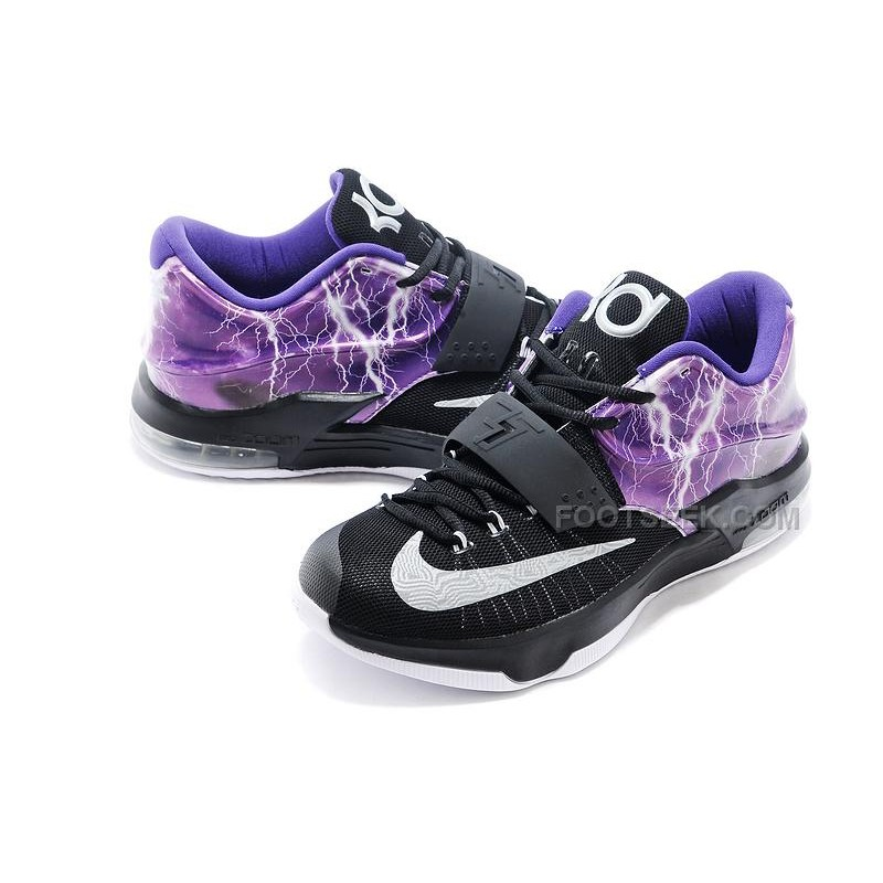 "designer fashion 8478b 88615 ... Nike KD 7 Basketball Shoes ""Lighting"" Black Purple Silver Discount  Online ..."