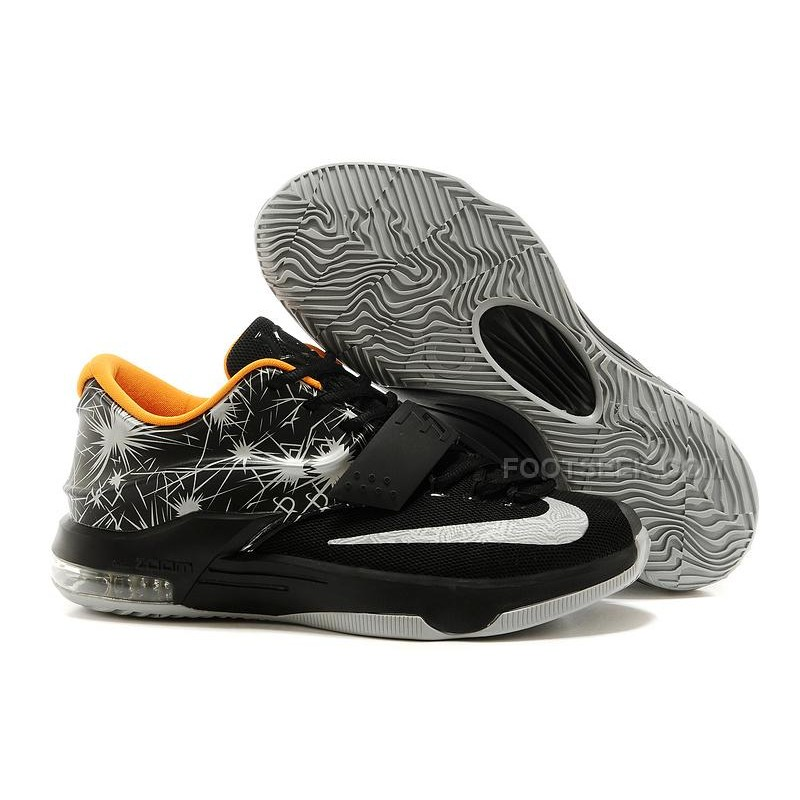 b89a05020a1a For Sale Nike KD 7 Fireworks Print Black-Yellow Silver With Cheap Price  Discount ...
