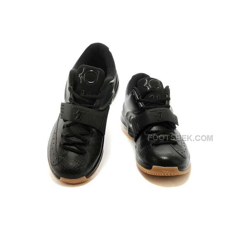 "4c56d108ddb7 Cheap Nike KD 7 ""Black Python"" All Black For Sale Discount Online ..."