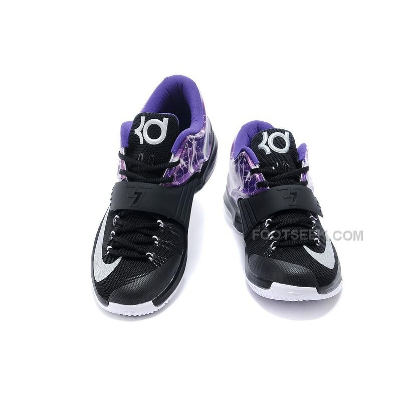 "official photos 695c1 a79ba ... Nike Kevin Durant KD 7 (VII) Custom ""Lighting"" Black Purple Silver For  ..."