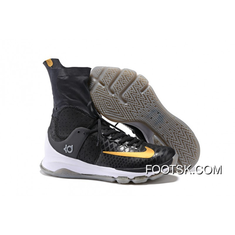 low priced 6859a bbb47 2016 'Away' Nike KD 8 Elite Black/Metallic Gold-Sail Men's Basketball Shoes  Free Shipping HpzkYR