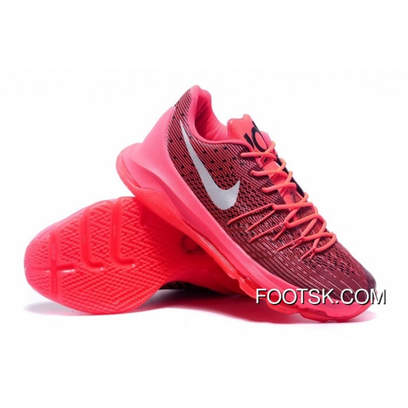 buy online bef97 8b7e3 ... Nike KD 8 Bright Crimson Bright Crimson White-Black Authentic JH3iN ...