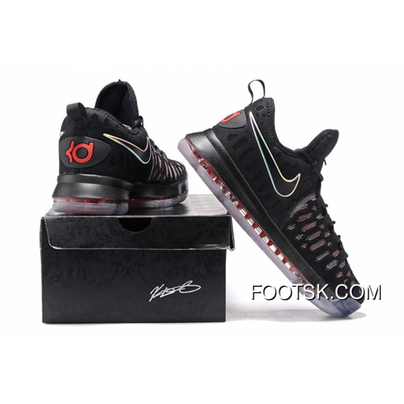new styles 98c5c 634a6 2016 Nike KD 9 Black Red Men s Basketball Shoes Online SjaxXm