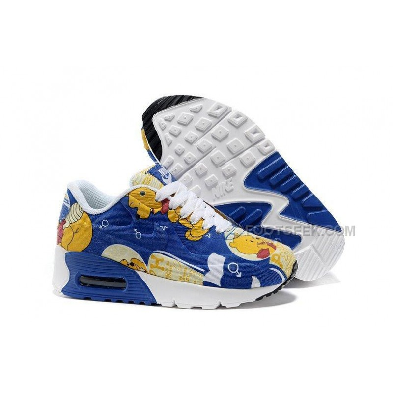 37e9c5e5ff Nike Air Max 90 Hyperfuse Winnie The Pooh Kids Running Shoes Children  Sneakers ...