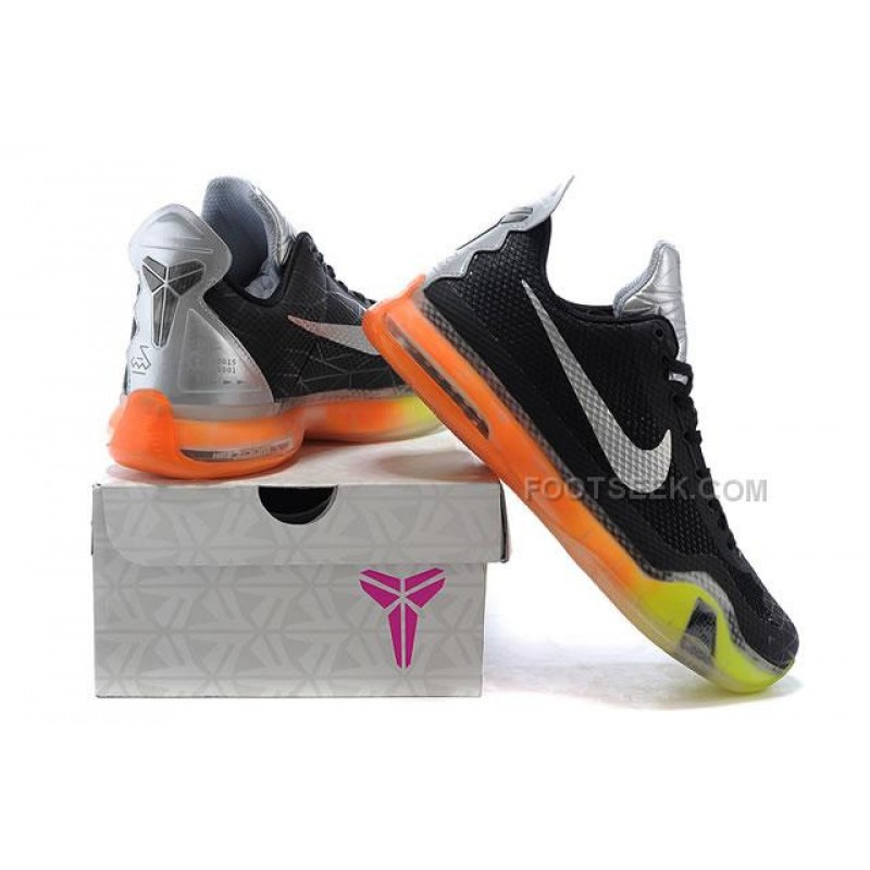 low priced 28de1 8c721 ... Nike Kobe 10 All Star ASG Shoes Black Yellow Orange ...