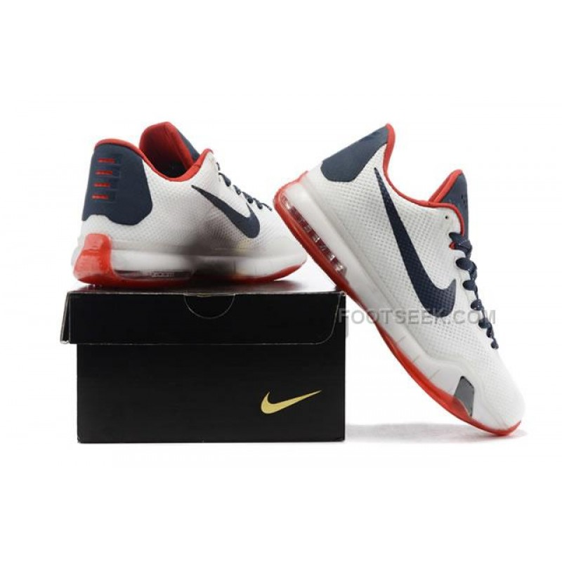 best cheap 5dc03 d18d5 ... Nike Kobe 10 PE University of Connecticut White Red Dark Blue Shoes ...