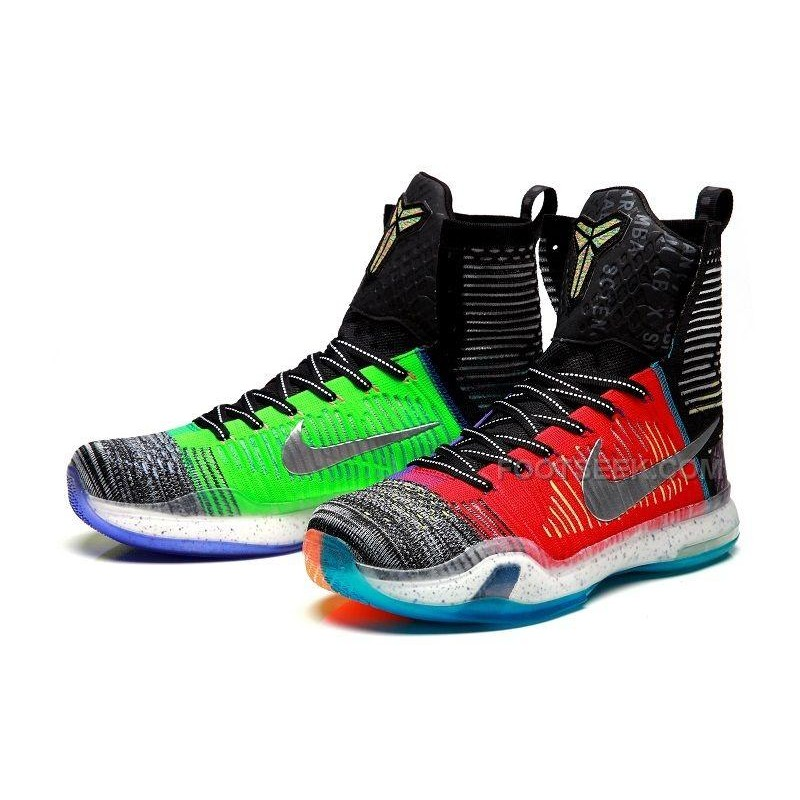 "Nike Kobe X Elite ""What The"" High SE Multi-Color/Reflective Silver ..."