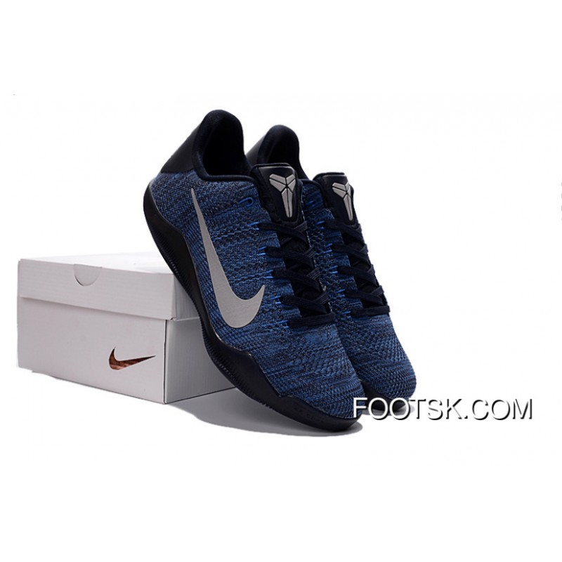 1843ad935872 ... czech new release nike kobe 11 flyknit blue basketball shoes 7a9f0 04d9e