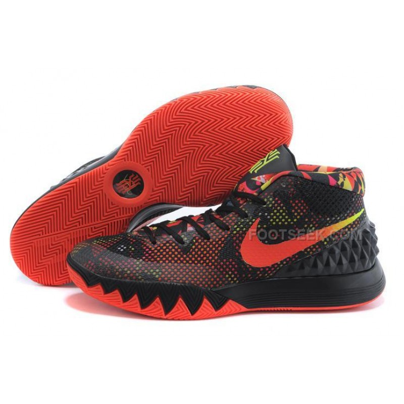new arrival 3477e a6ef6 Cheap Nike Kyrie 1 2015 Black Red Basketball Shoes Sale 2016 ...