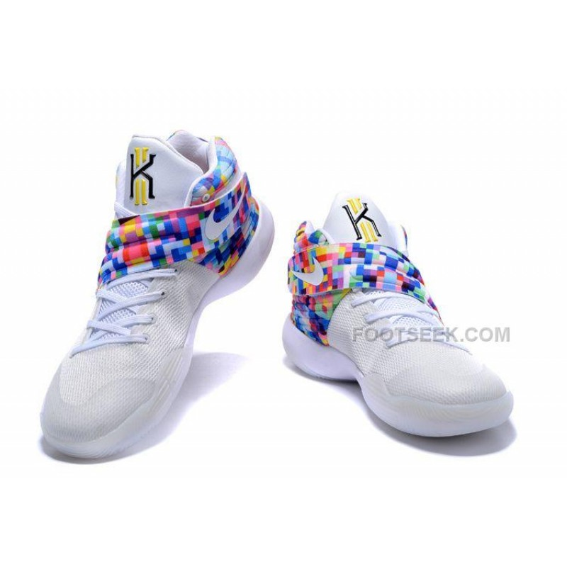 "... Nike Kyrie 2 ""Effect"" White-Red/Multi-Color ..."