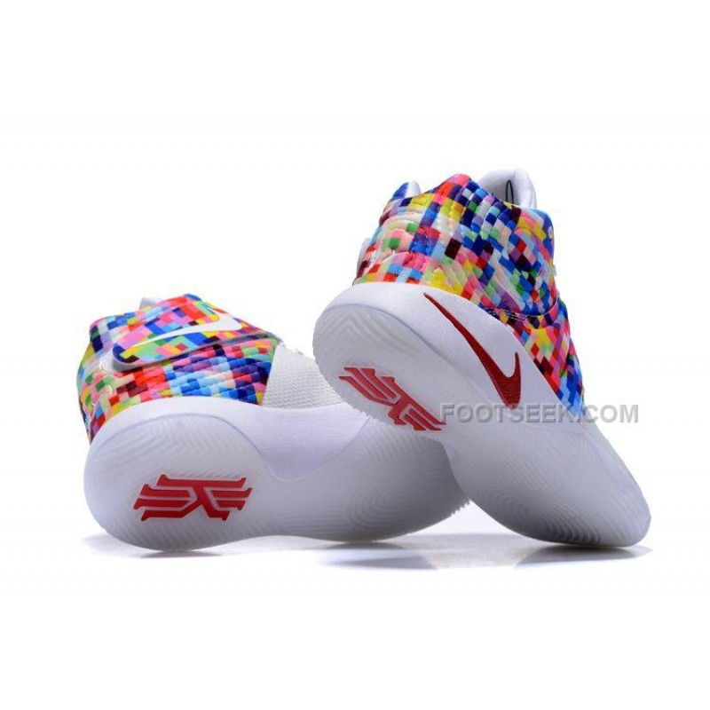 """... Nike Kyrie 2 """"Effect"""" White-Red/Multi-Color"""