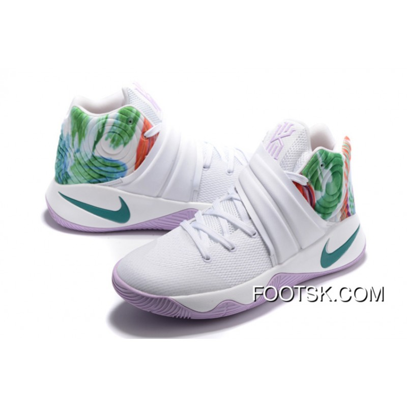 "41f0bcd7899409 Easter"" Nike Kyrie 2 White Hyper Jade-Urban Lilac-Bright Mango For ..."