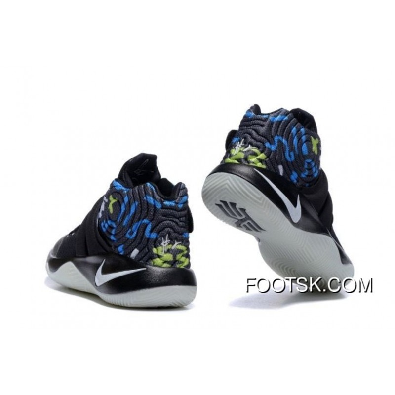 ... Nike Kyrie 2 Black White Blue Men s Basketball Shoes Free Shipping  YHYzP ... f64cfc8e5