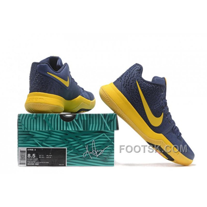 check out 6fbb6 5d40e Nike Kyrie 3 Mens BasketBall Shoes Cavs Yellow For Sale 5HNWHtD