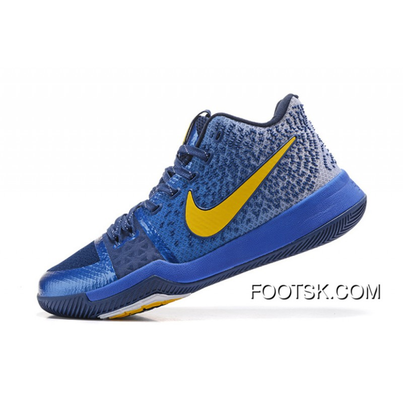 best sneakers 4730f 2963d Nike Kyrie 3 PE Navy Blue Yellow D New Release D5Rp4