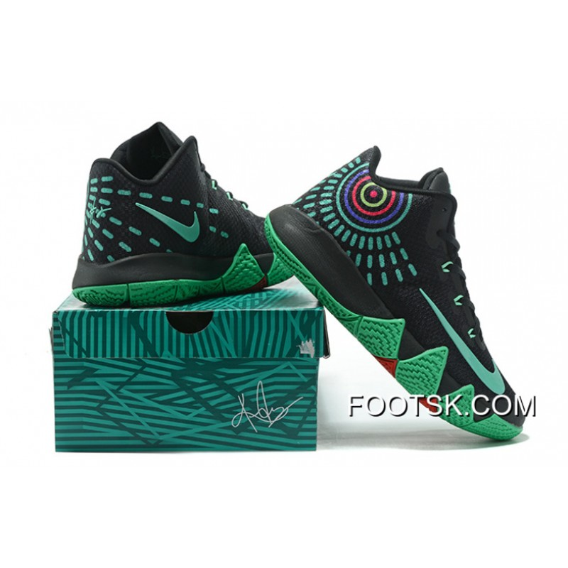more photos c0a1a c26f4 ... inexpensive nike kyrie 4 mens basketball shoes black green new release  b6642 f7362
