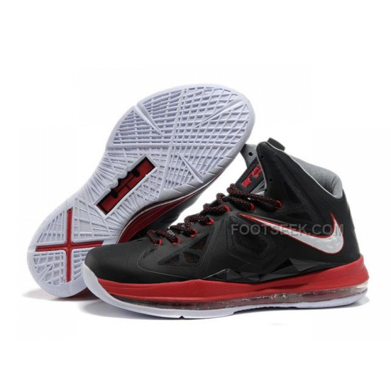 Nike Zoom Lebron 10 Shoes Black/Red/White Discount