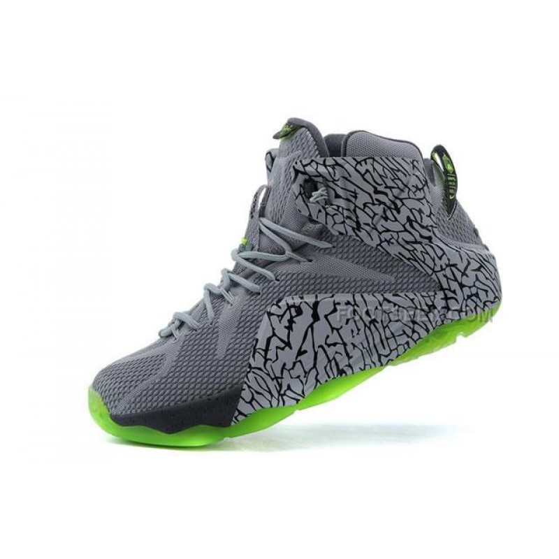 LeBron 12 Original Shoes Grey Green, Price: $89.67 ...