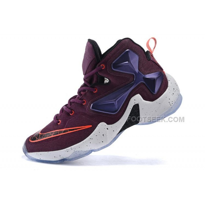 on sale e2846 80d76 Hot GS LeBron James 13 Shoes Cave Purple Hyper Grape Crimson Blue