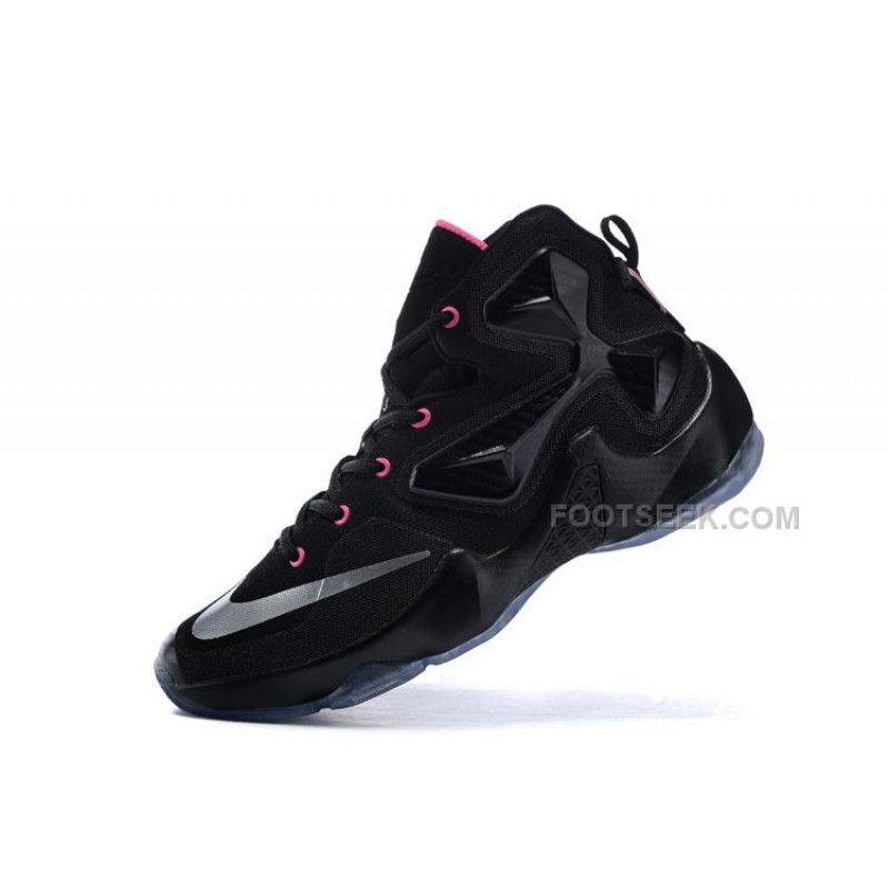 cheaper b64aa 66ee0 Girls LeBron James 13 Shoes GS Black Pink Metalic Silver Discount ...
