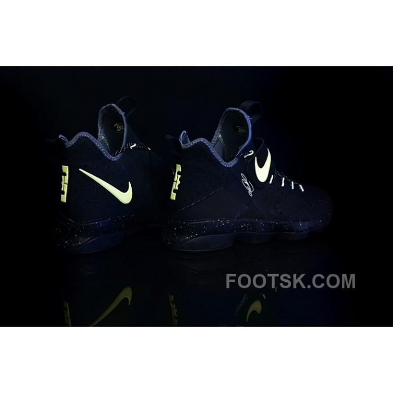 promo code 9489f 195de Nike LeBron 14 SBR Black Neon Green Light In The Dark Online