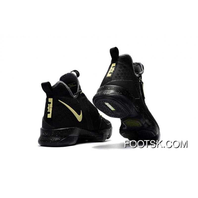 "sports shoes dca23 c4d4f ""Game 7"" Nike LeBron 14 Black Yellow Lastest WJ3R7Dr"