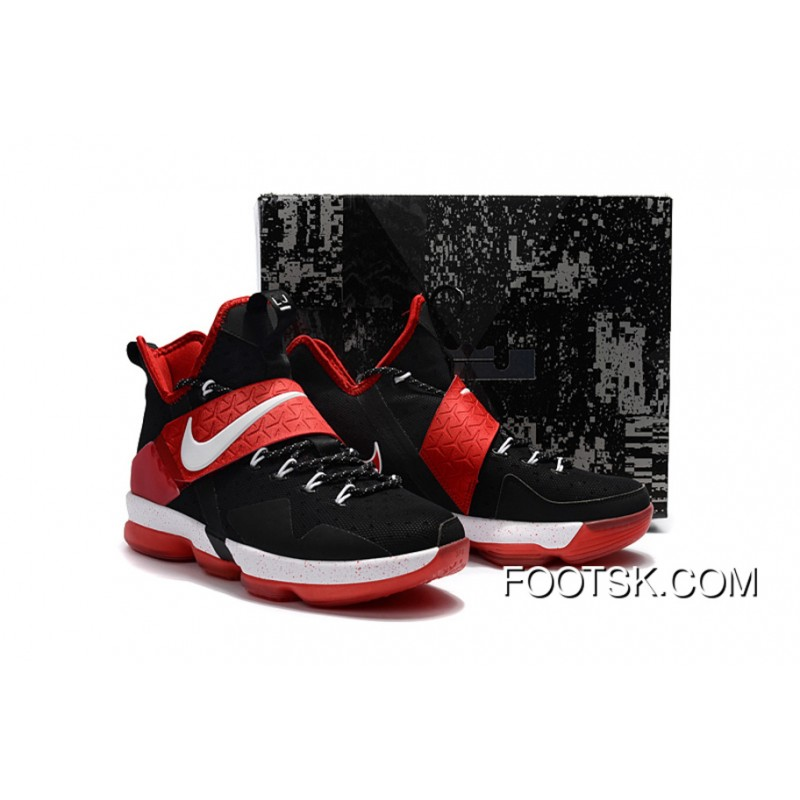 """official photos ada1d b8fc1 """"Bred"""" Nike LeBron 14 Black/Red-White Online YpwsMs"""