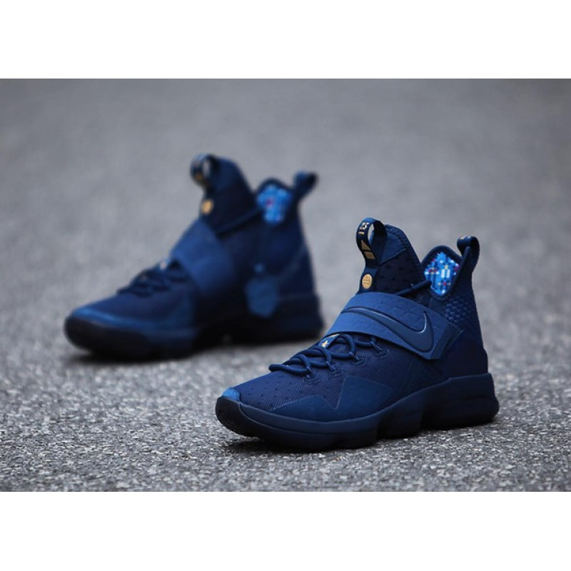 3ef501ea9458 Newest Sale! Nike LeBron 14 Agimat Coastal Blue White-Star Blue ...