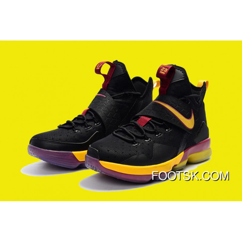 5c59ed96972 ... Nike LeBron 14 Cavs PE Black Wine Red Gold Super Deals Hfxmj ...