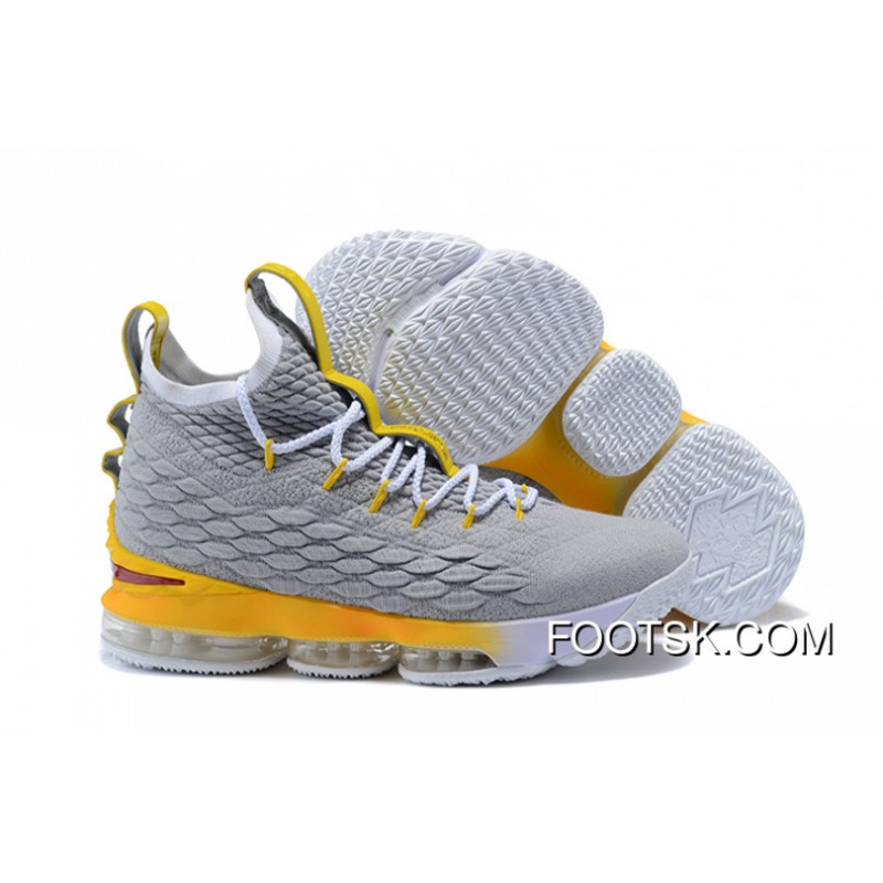 56155d114a6691 1808  15 Nike Lebron 15 Grey Orange New Style